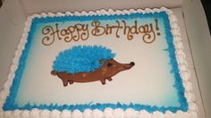 Dairy Queen blue hedgehog cake.  I don't ask questions, I just fill the orders.