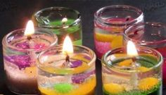 [Video] Learn How To Make Mini Gel Sand Candles In Little Votive Jars Or Shot Glasses!