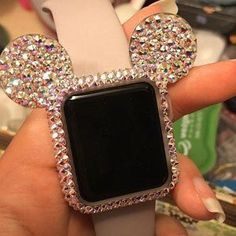 Sparkly apple iwatch case bling AB crystal Cute available /black silicone case base case for Diy Kits apple watch decals - Apple Watch Accessories, Iphone Accessories, Jewelry Accessories, Apple Watch Fashion, Tsumtsum, Accessoires Iphone, Apple Products, Apple Watch Bands, Fashion Watches