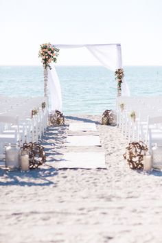 Beautifully simple wedding arch (do not like the runway!)