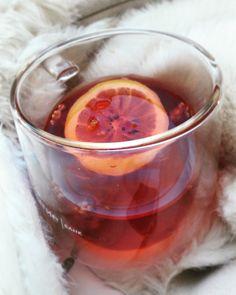 Чай, лимон, tea, lemon Winter, vitamin