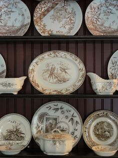 brown transferware collection