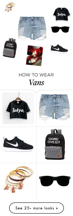 """work out clothes around the house"" by peaceandlove12346 on Polyvore featuring Topshop, NIKE and Vans"