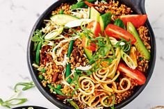 Beef nasi goreng - Switch out the white rice for brown to make a better-for-you version of nasi goreng.