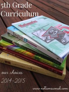 5th grade homeschool curriculum choices from this single homeschooling mom of 4. Simple and excellent!