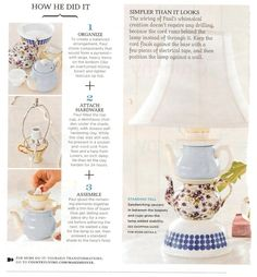 teapot lamps - Google Search