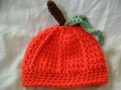 Pumpkin Crochet Baby Hat - Newborn-12 months - Perfect for Photo Prop