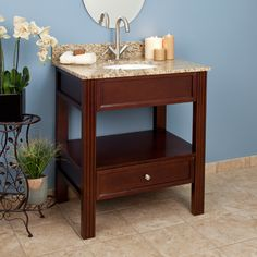 """30"""" Milforde Collection Console Vanity Cabinet with Undermount Sink $637"""