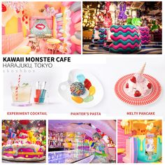 Here's another spot to add to your Must-See in Tokyo! Kawaii Monster Cafe offers a colorful menu, and you'll feel like you stepped right onto the set of a Kyary PamyuPamyu music video (and who doesn't want that?) To top off the Sweets Go Round, Mushroom Forest, Mel-Tea Room and other cool rooms, the Monster Girls will even seat you for a full Harajuku Tokyo Welcome. (*Squeal!)