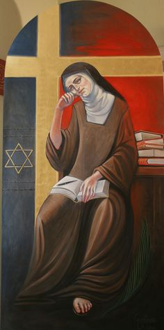 Teresa Benedicta of the Cross Catholic Art, Catholic Saints, Roman Catholic, St Edith Stein, Santa Teresa, Maria Goretti, Pope John Paul Ii, Religious Images, Believe In God
