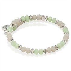 $38 ALEX & ANI Mint Sentiment Beaded Bracelet Green Silvertone NWT - http://designerjewelrygalleria.com/alex-ani/38-alex-ani-mint-sentiment-beaded-bracelet-green-silvertone-nwt/
