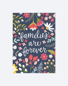 Families are Forever Christian Art Z348 by alexazdesign on Etsy