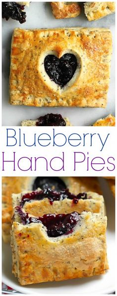 Blueberry Hand pies with Lemon Poppy Seed Crust - homemade and SO DELICIOUS!!!