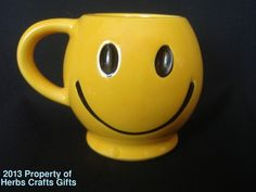 Mug Smiley Face McCoy USA Yellow New Large Happy Face Coffee Cup Smily` | eBay