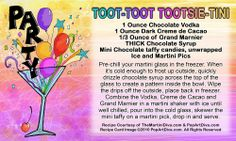 February 23th is National Tootsie Roll Day and I have JUST the martini for you!