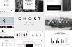 Ghost Minimal Keynote Template by SlidePro on @creativemarket