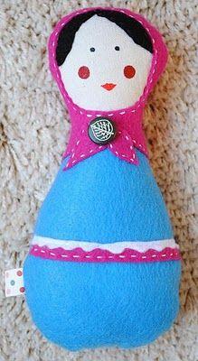 Felt-o-rama: classic fibers for modern crafters: Matryoshka Doll Tutorial from snipsnaphappy