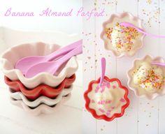 #vegan ice cream: Homemade Banana Almond Parfait