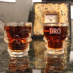 Skull Shot Glass - Personalized Groomsmen Gift, Gifts for Him, Birthday Gift, Party Favors, Unique Gift Idea