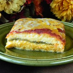 Chile Rellenos Casserole (I added another layer of chilies so the cheese layers weren't so thick)