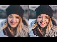How to Improve Photo/Image Quality (Low to High Resolution) in Photoshop - Photoshop Tutorial Basic Photoshop Tutorials, Cs6 Photoshop, Photoshop Youtube, Photoshop Photos, Large Photos, Your Photos, Raster To Vector, High Resolution Photos, Photo Look