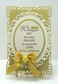 "love the verse - Great Impressions Stamps ""wishing you joy F18"""