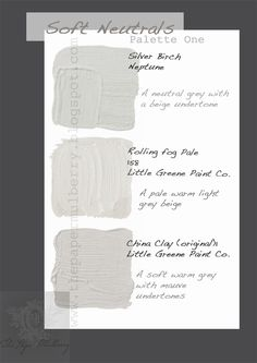 The Paper Mulberry: Interior Paint Shades - Soft Neutrals part 1