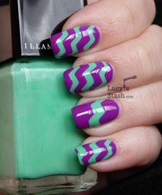 Lucy's Stash - ZIG ZAG Nail Art