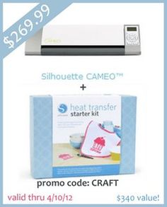 Silhouette Heat Transfer TUTORIAL   CAMEO Giveaway on http://www.craftaholicsanonymous.net