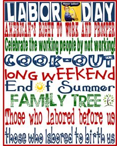 Labor Day official End of Summer. Labor Day Holiday, Holiday Fun, Holiday Ideas, Labor Day Meaning, Labor Day Crafts, Labor Day Quotes, Political Speeches, What Day Is It, Different Holidays