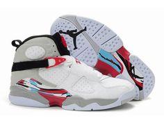 new product 95d54 4882c Jordan 8 white grey black basketball shoes Buy Jordan Shoes, Jordan  Sneakers, Nike Air
