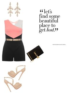 """""""Untitled #118"""" by nicolekon on Polyvore featuring Dorothy Perkins, Christian Louboutin and Yves Saint Laurent"""