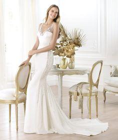 Pronovias präsentiert Ihnen das Modell Laherie. Fashion 2014.   Pronovias