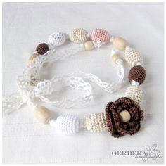 Vintage Jewelry Nursing necklace/ Teething by GerberaHandmade, $23.00