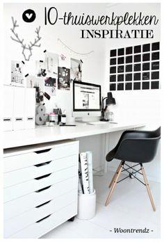 Heb jij #inspiratie nodig om je #werkplek te creëren? Bekijk dan de 10 thuiswerkplekken van blogger Stephanie op www.woontrendz.nl