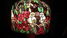 ENORMOUS VINTAGE DOME SHAPED STAINED GLASS LAMP SHADE WITH PARROTS #stainedglass #lamp #Vintagelamps Stained Glass Lamp Shades, Vintage Lamps, Parrots, Ebay, Parrot, Vintage Lighting, Parakeets