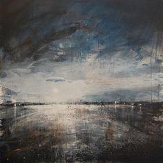 Anthony Garratt Original Artwork Contemporary Landscape, Contemporary Paintings, Landscape Art, Landscape Paintings, Sky And Clouds, Original Paintings, Original Artwork, Ocean Art, Impressionism