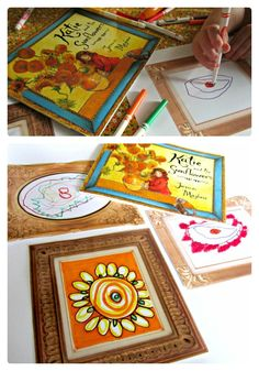 How do you explore Fine Art with your kids?  Kids Art Gallery Activity + Picture Frame Printable - #kids #arthistory #printable at B-InspiredMama.com