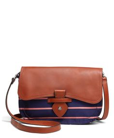 BB#1 Silk Repp Medium Flap Bag | Brooks Brothers