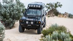 This fast tough looking 76 series Landcruiser wagon is known as the Black Knight and owned by a bloke called Anthony Collins and has be running 14 seconds on the quarter mile drag . Offroad, Landcruiser 79 Series, Toyota Trucks, Best Luxury Cars, How Big Is Baby, Toyota Land Cruiser, Dream Cars, 4x4, Monster Trucks