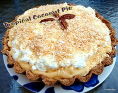 Tropical Coconut Pie - Lovefoodies hanging out! Tease your taste buds!