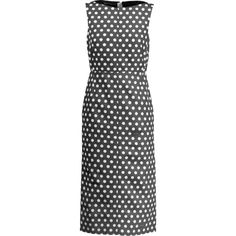 Rochas Polka-dot cotton and silk-blend faille midi dress (10 365 UAH) via Polyvore featuring dresses, black, polka dot midi dress, rochas dress, dot dress, midi dresses и calf length dresses