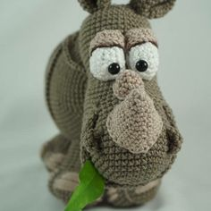 Ronald the Rhinoceros - Amigurumi Crochet Pattern