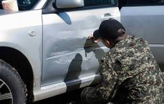 Artist Fixes His Dented Car Door By Turning It Into A Map Of The Altai Mountains - Neatorama