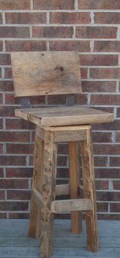 "YOUR Custom Reclaimed Rustic Swivel Oak Barn Wood and Metal 29"" - 32"" Top Bar Stool with Backs"