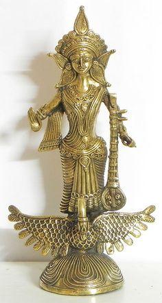 Goddess Saraswati (Brass))