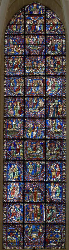 Chartres Cathedral Stained Glass - Bay 00 Key (Lives of the Apostles)