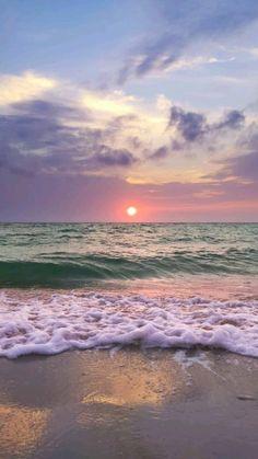 Beach Sunset Wallpaper, Summer Wallpaper, Nature Aesthetic, Beach Aesthetic, Beach Landscape, Fantasy Landscape, Aesthetic Backgrounds, Aesthetic Wallpapers, Sky And Clouds
