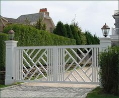 Cellular Vinyl Chippendale Entrance Gate | Entrance Gates, Wood Gates, and more from Walpole Woodworkers