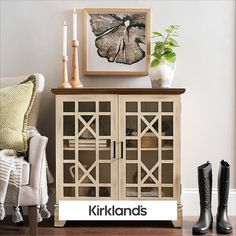 We love entryway pieces that are stylish and functional! Tap the image to shop all cabinets and add some organization to your home. Wall Shelf Decor, Entry Way Design, Neutral Color Scheme, Sideboard Cabinet, Bench With Storage, Storage Cabinets, Entryway Decor, Room Ideas, Decor Ideas